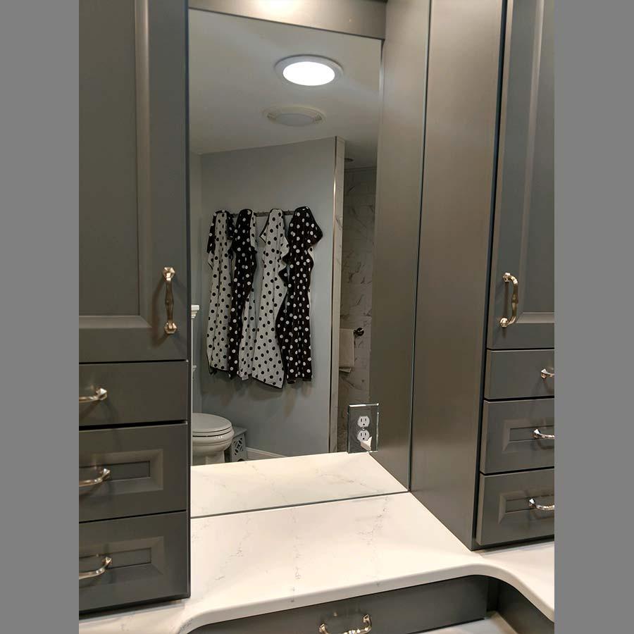 Custom Gray Bathroom Mirror