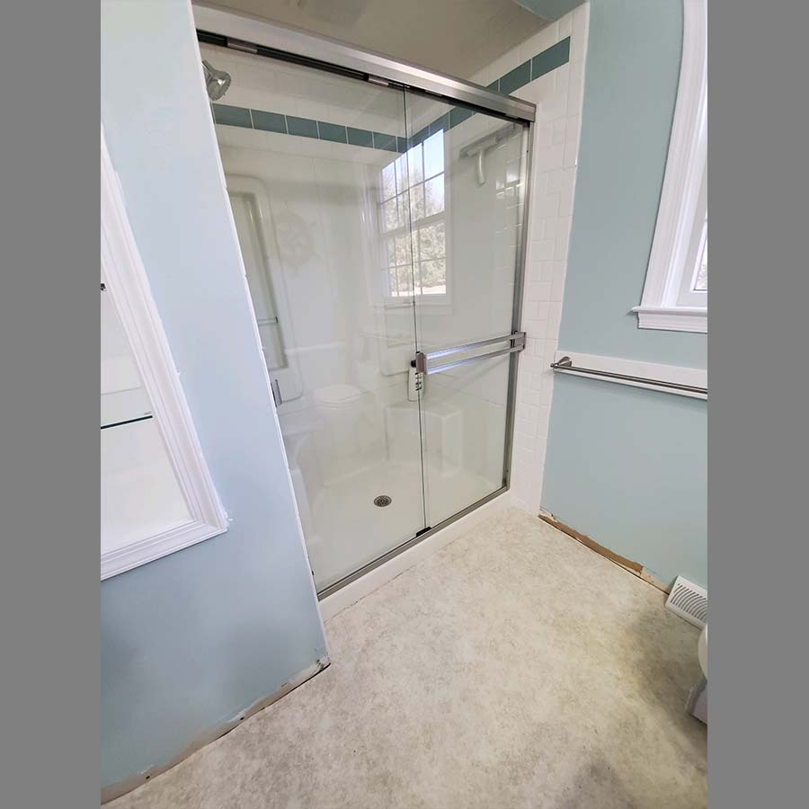 Shower Enclosure Blue Bathroom