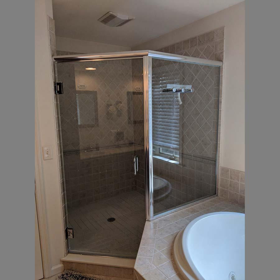 Corner Shower Glass Enclosure