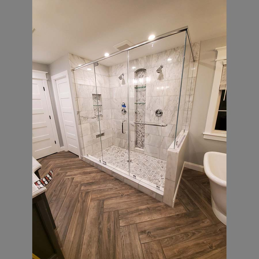 Custom Shower Tile Cutout and Enclosure