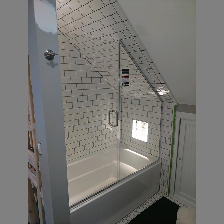 Angled Ceiling Shower Enclosure