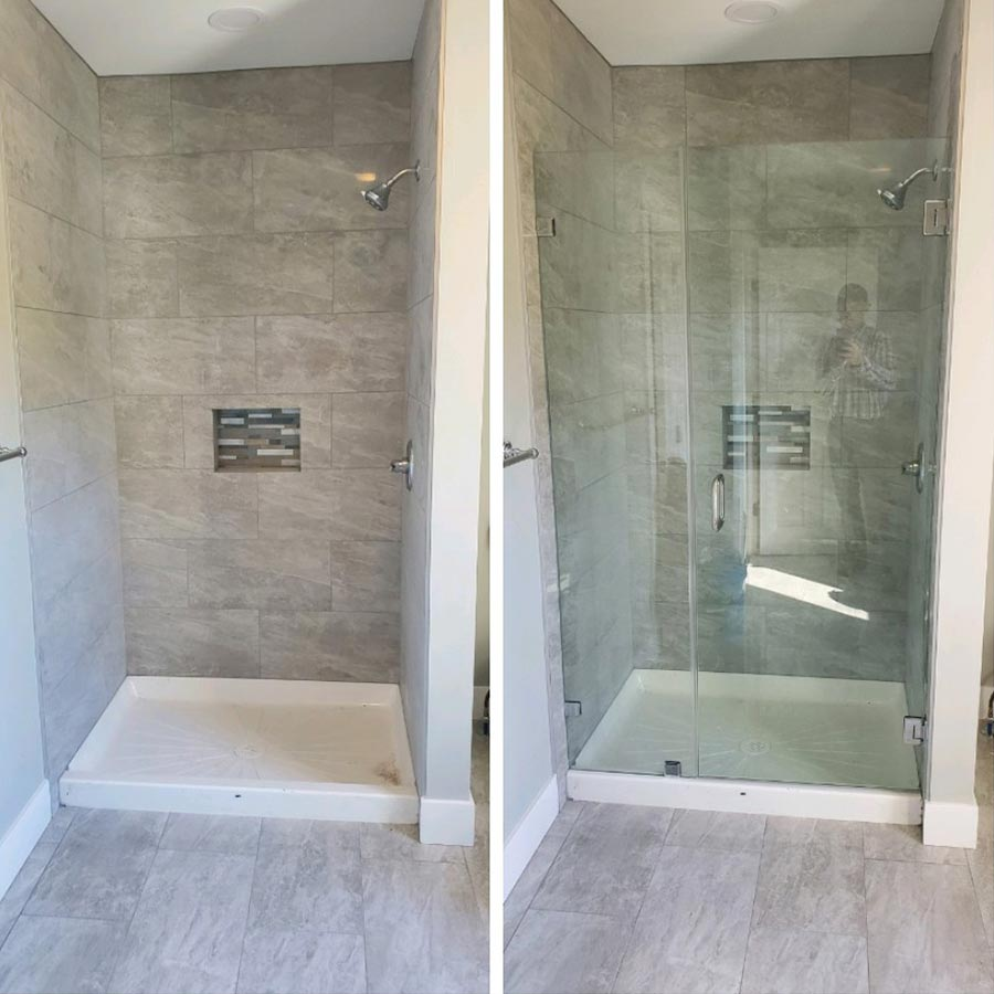 Before and After Shower Enclosure